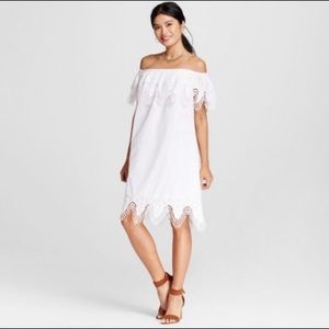 3/$30 Merona | white off the shoulder dress